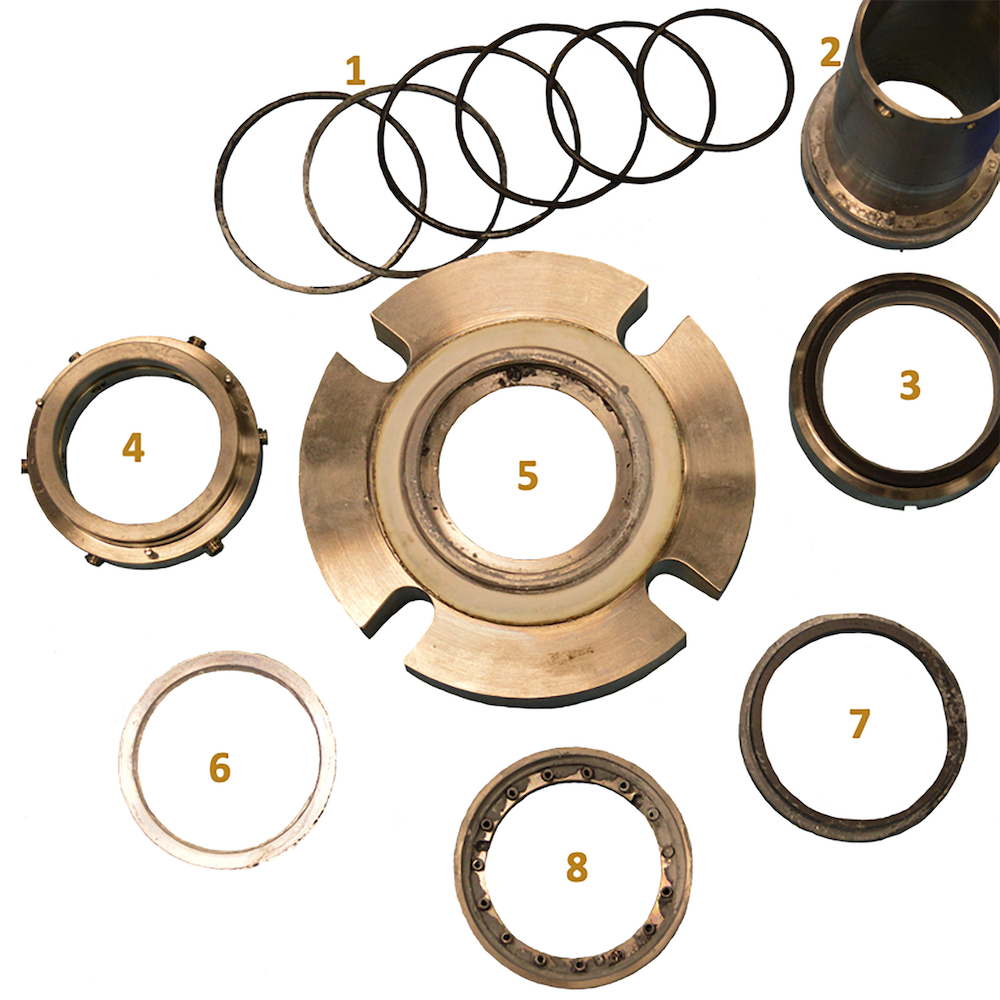 labeled seal parts